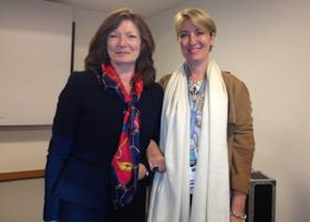 Dr Gillian Murphy (President of ESPD) and Corinne Minmin (Bioderma) - ESPD meeting at the EADV Istanbul, 1st October 2013