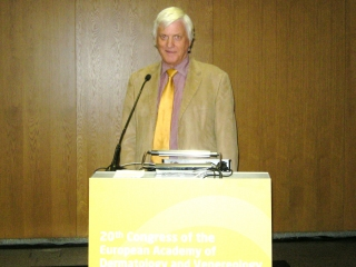 Prof John Hawk chairing the ESPD Photodermatology Day, Lisbon, October 2011